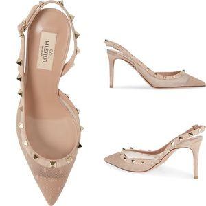 New Valentino Garavani Rockstud Mesh Heels